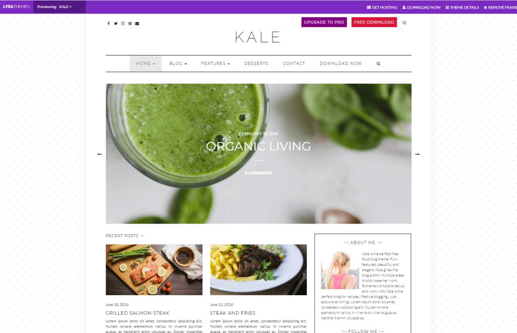 【WordPress】海外テーマ「Kale」に変更